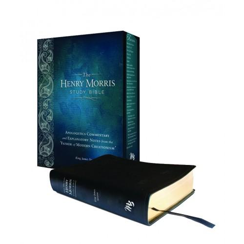 Henry Morris Study Bible KJV - Black Genuine Leather