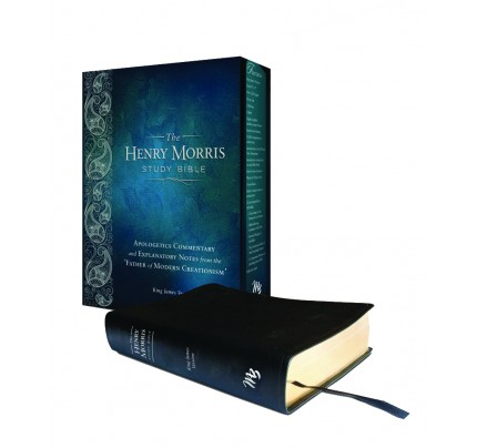 Henry Morris Study Bible KJV - Black Genuine Leather
